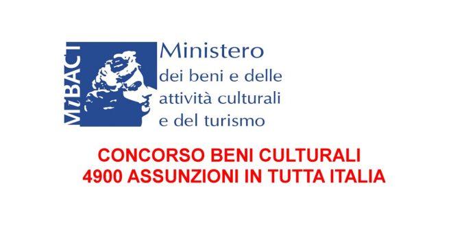 concorso beni culturali